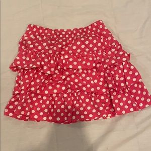 HANNA ANDERSON GIRLS PINK AND WHITE SCOOTER SKIRT